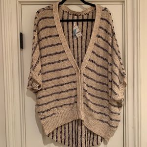 Free People Cropped Sleeved Cardigan, S